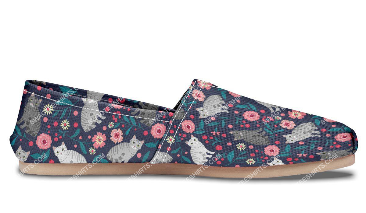 flower and american shorthair cats lover all over printed toms shoes 5(1)