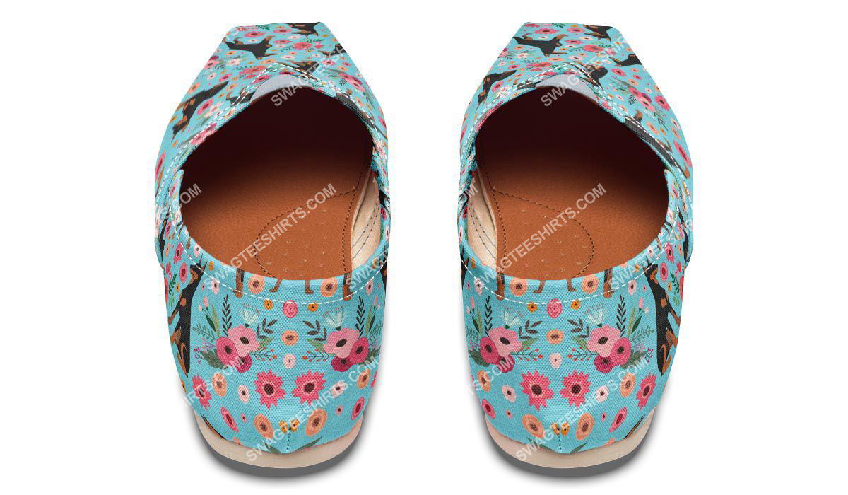 flower and dobermann dogs lover all over printed toms shoes 3(1)