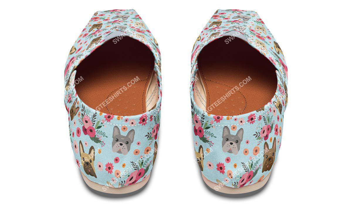 flower and french bulldog dogs lover all over printed toms shoes 3(1)