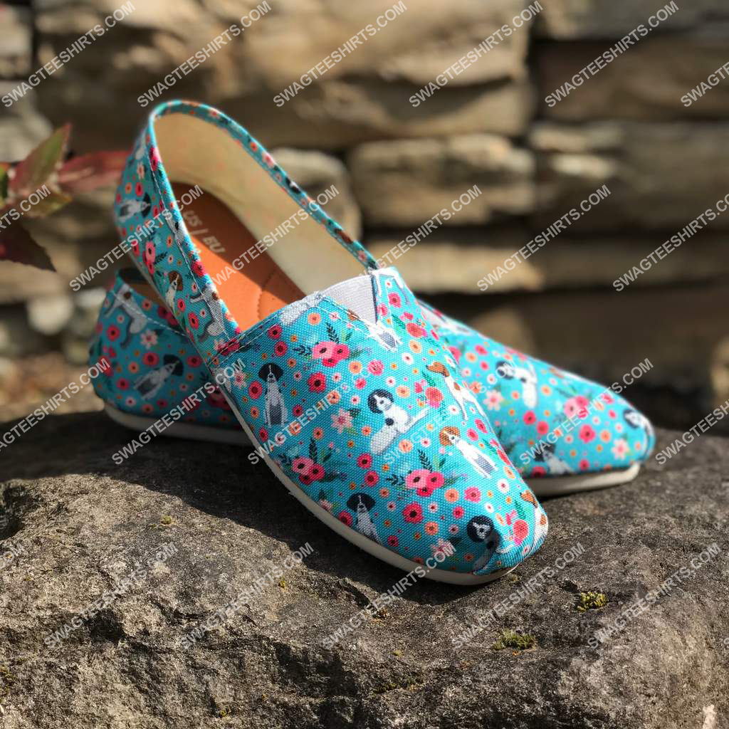 flower and german shorthaired pointer dogs lover all over printed toms shoes 2(1)