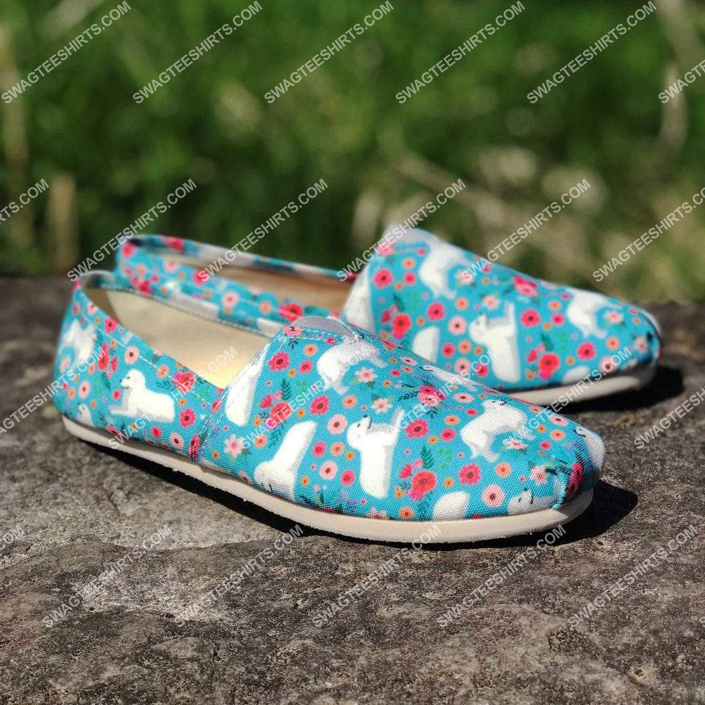 flower and great pyrenees dogs lover all over printed toms shoes 2(1) - Copy