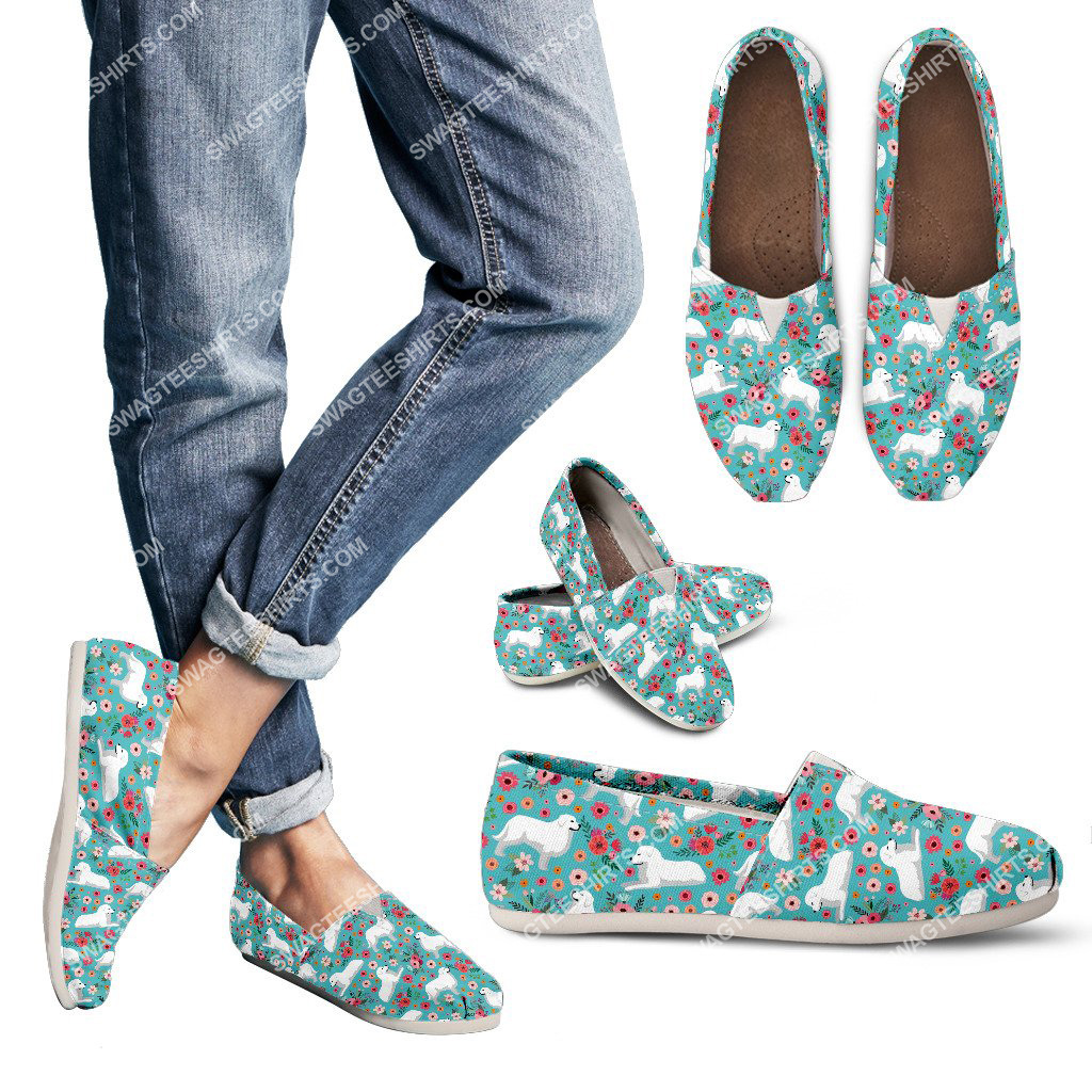 flower and great pyrenees dogs lover all over printed toms shoes 3(1) - Copy