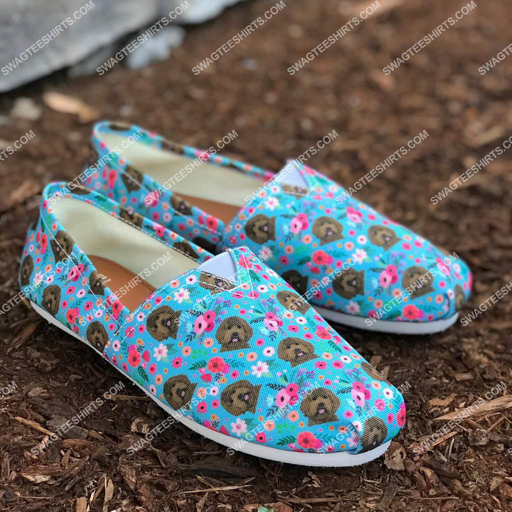 flower and labradoodle dogs lover all over printed toms shoes 2(1)