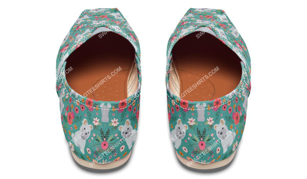 flower and maltese dogs lover all over printed toms shoes 3(1)