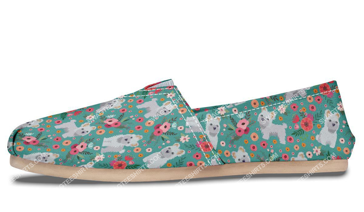 flower and maltese dogs lover all over printed toms shoes 4(1)