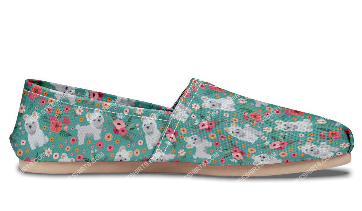 flower and maltese dogs lover all over printed toms shoes 5(1)