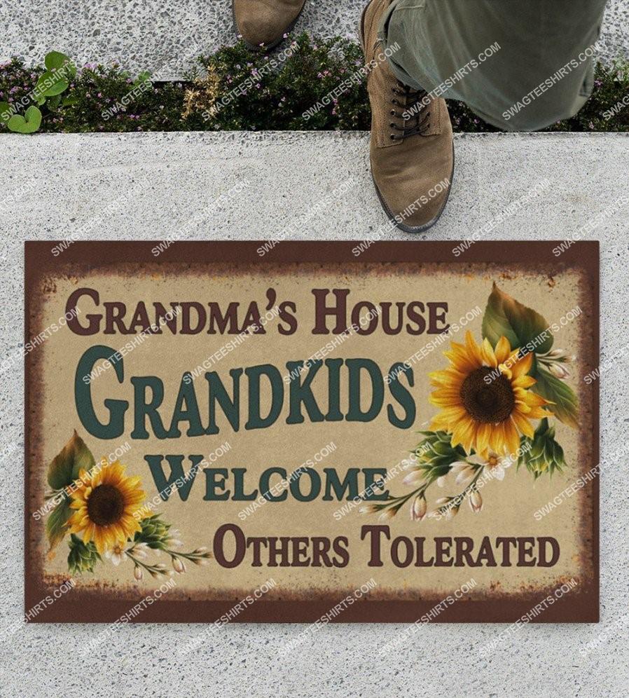 grandma house grandma kid welcome others tolerated full print doormat 2(1)