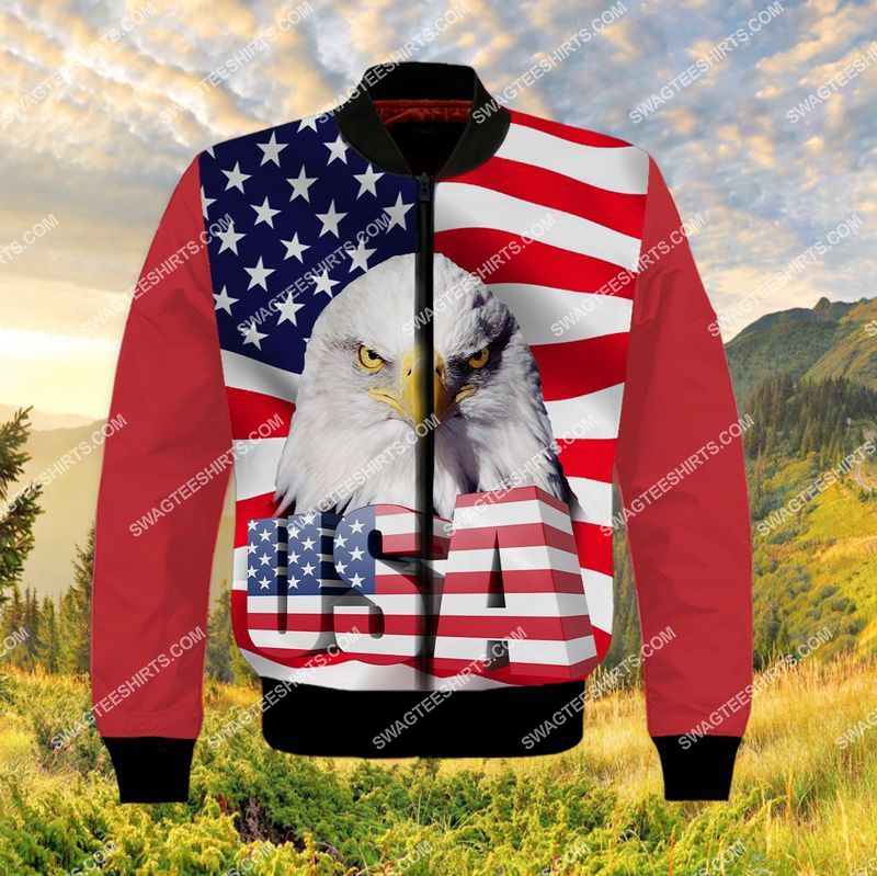 happy independence day God bless america full print bomber 1