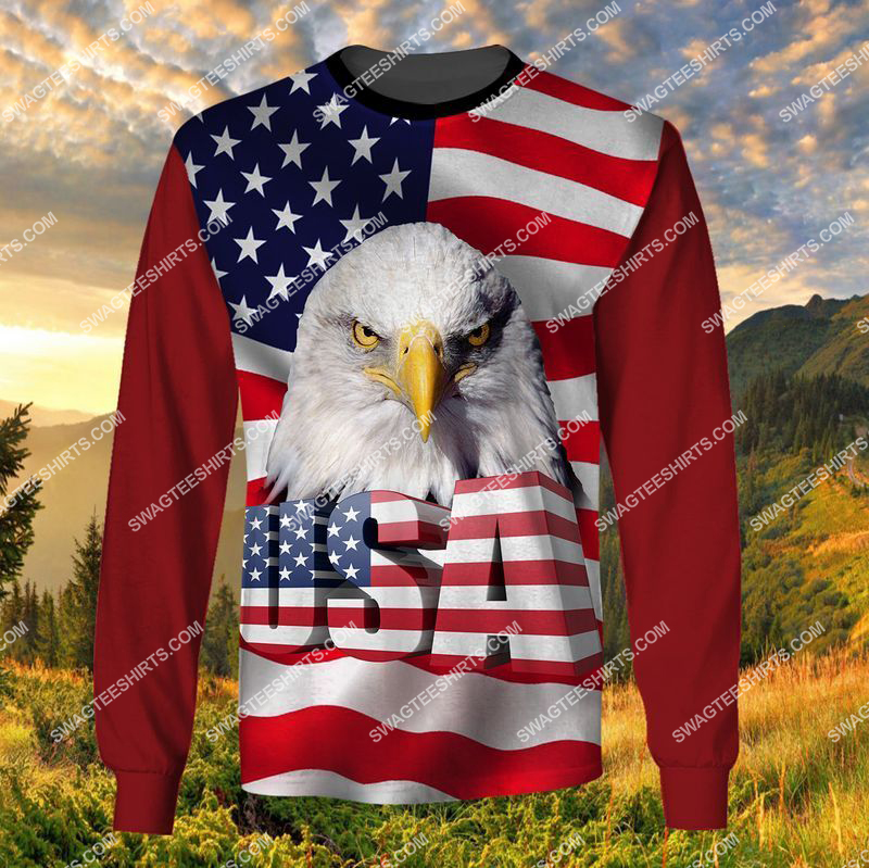 happy independence day God bless america full print sweatshirt 1