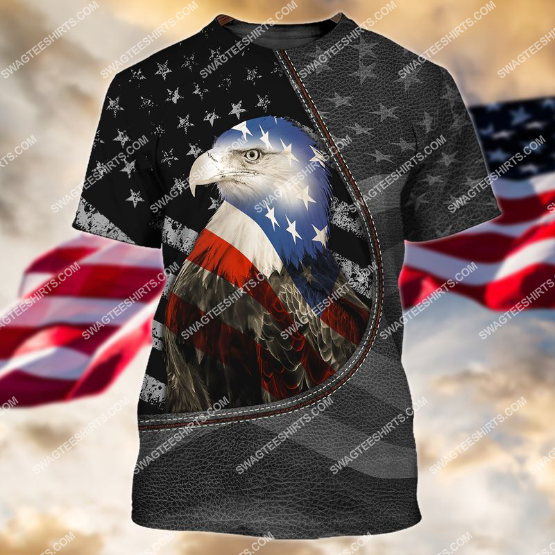 happy independence day american eagle flag full print tshirt 1