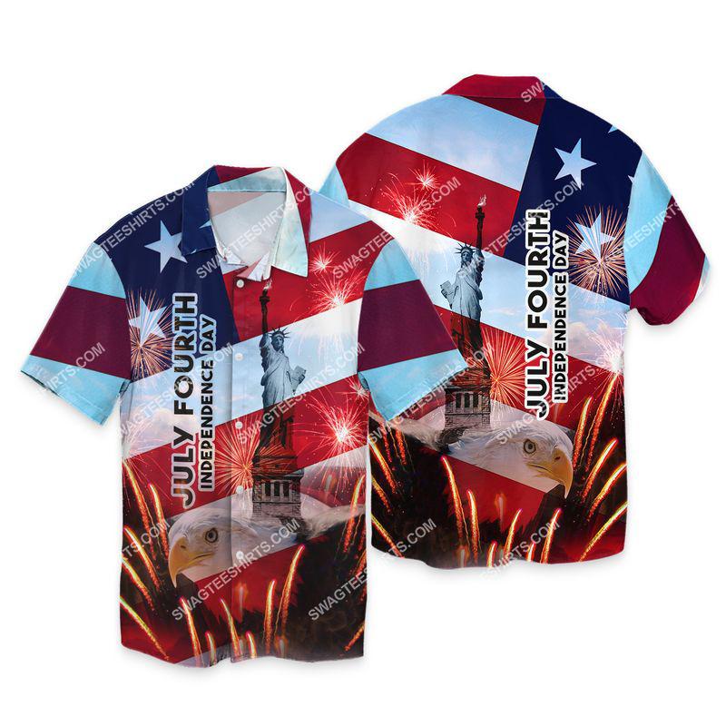 happy independence day united states full print hawaiian shirt 1
