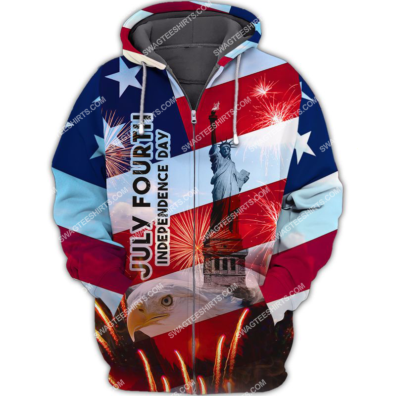 happy independence day united states full print zip hoodie 1