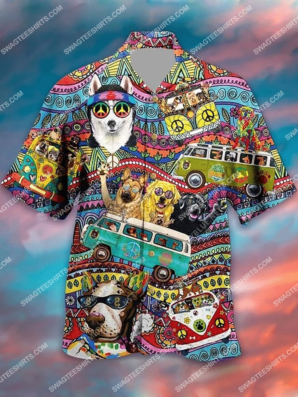 hippie dogs lover all over printed hawaiian shirt 1(3) - Copy