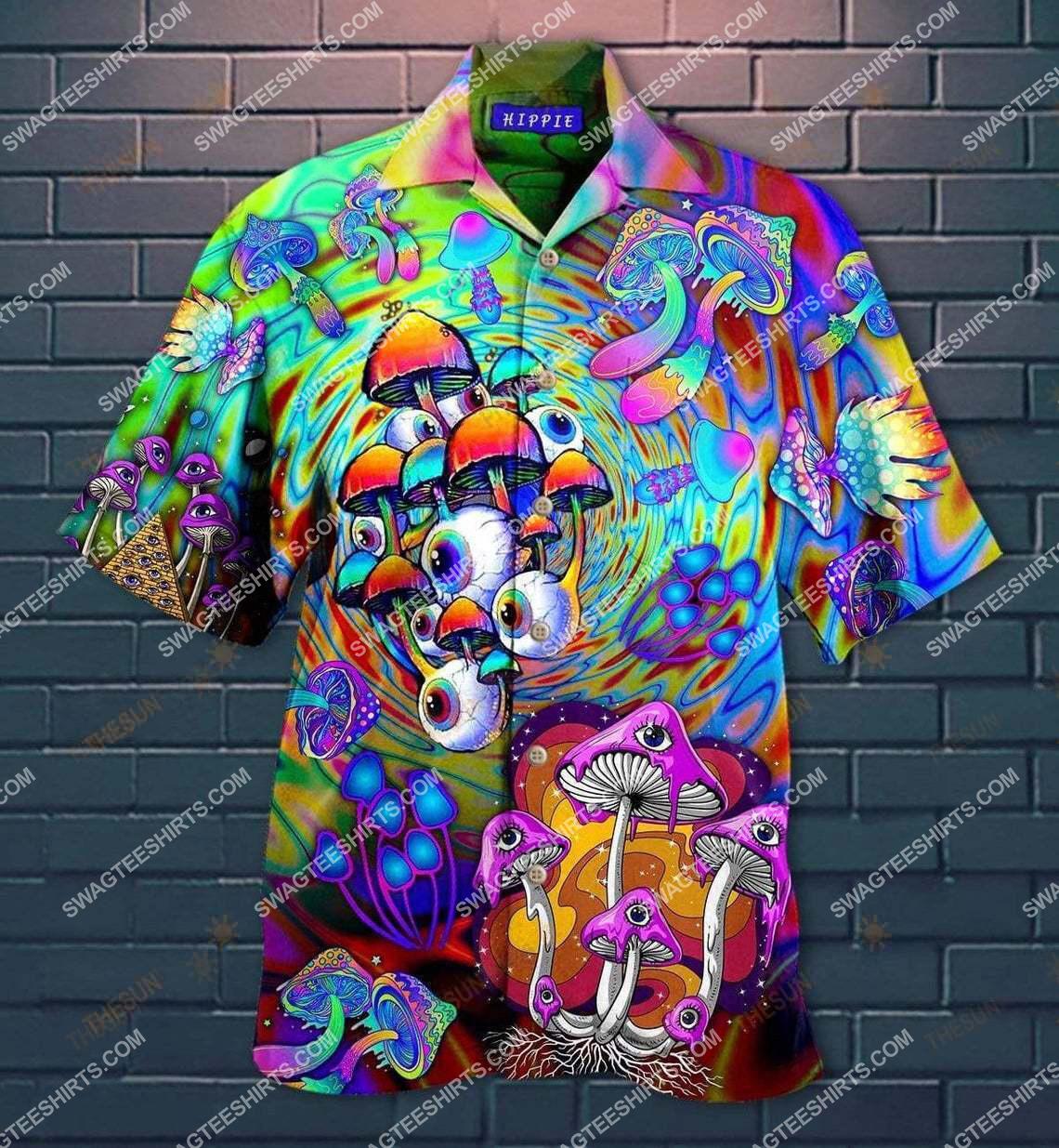 hippie mushroom eyes all over printed hawaiian shirt 1(1)