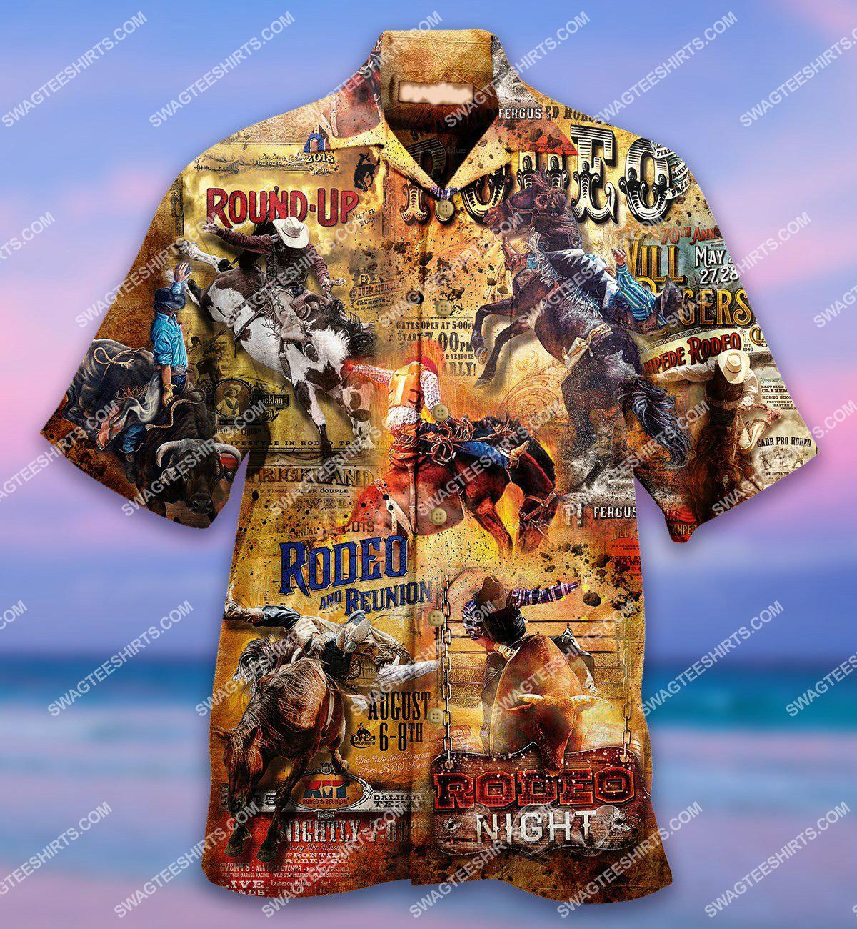 horse riding vintage all over printed hawaiian shirt 1(1)