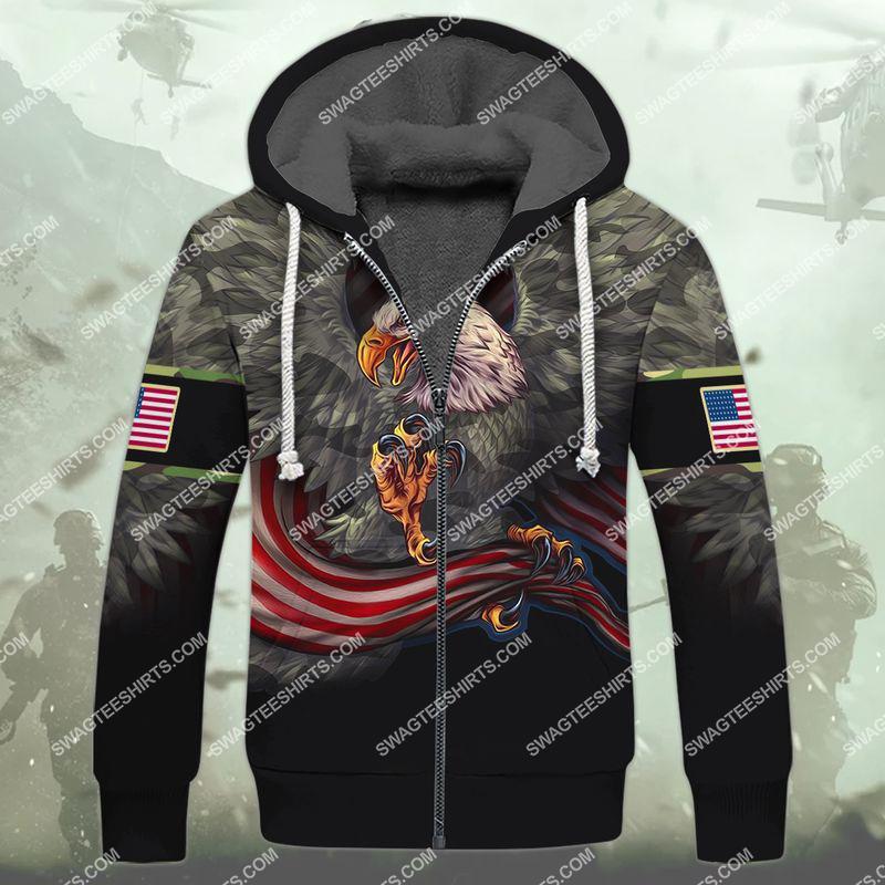 i am a grumpy old veteran i served i sacrificed veterans day full print fleece hoodie 1