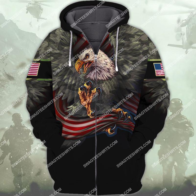 i am a grumpy old veteran i served i sacrificed veterans day full print zip hoodie 1