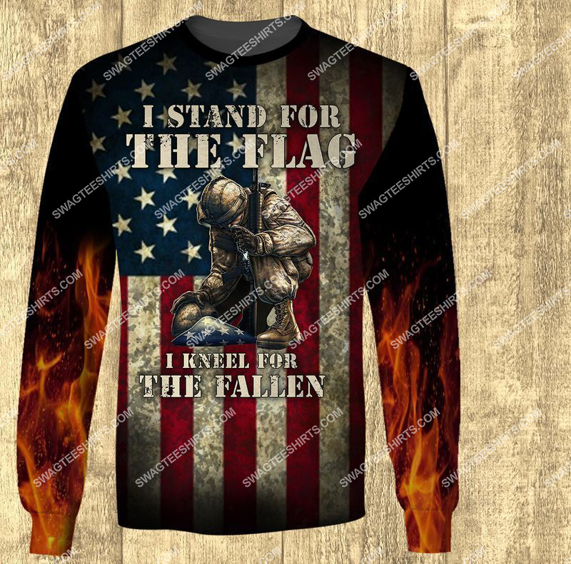 i stand for the flag and kneel for the fallen veterans day full print sweatshirt 1