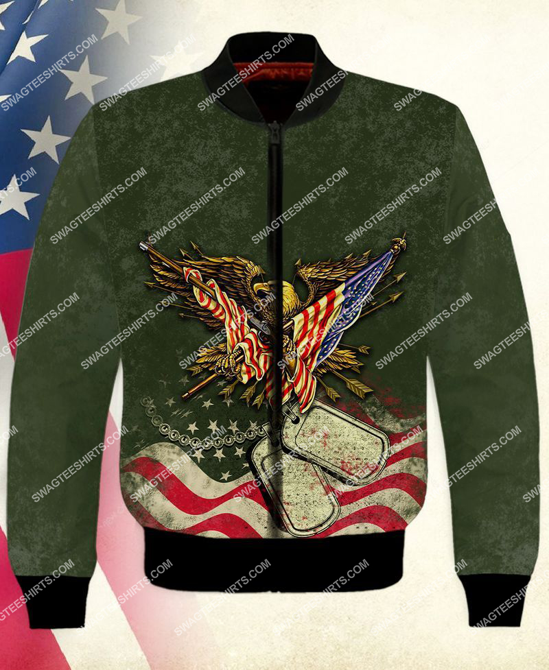 i took a dna test God is my father veterans are my brothers full print bomber 1