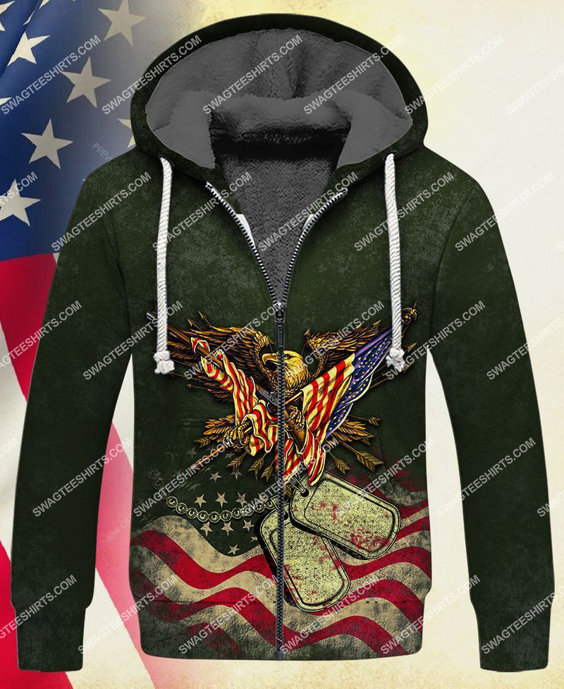 i took a dna test God is my father veterans are my brothers full print fleece hoodie 1