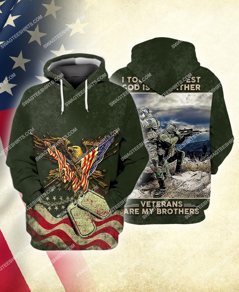 i took a dna test God is my father veterans are my brothers full print hoodie 1