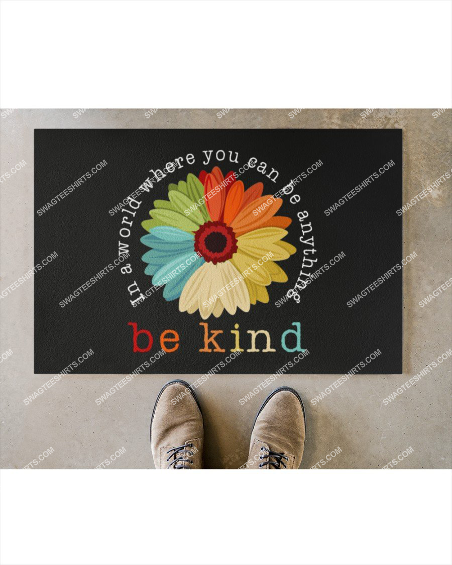 in a world where you can be anything be kind full print doormat 2(1)