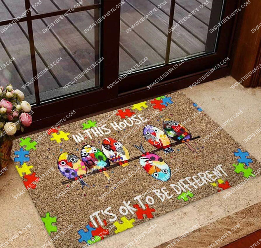 in this house its ok to be different autism awareness full print doormat 2(1)