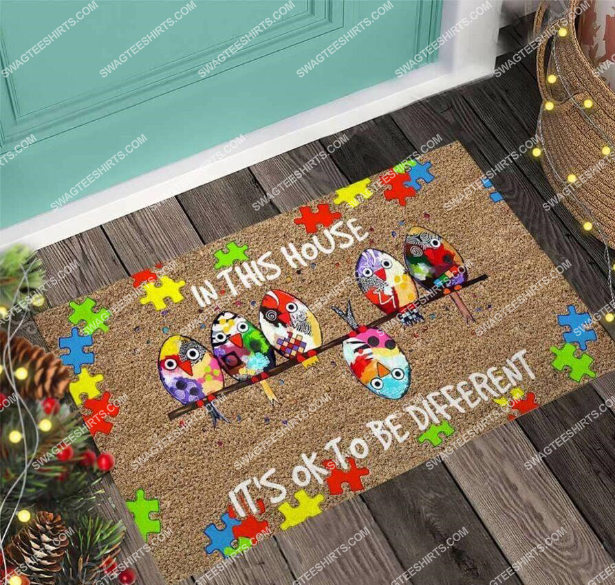 in this house its ok to be different autism awareness full print doormat 5(1)