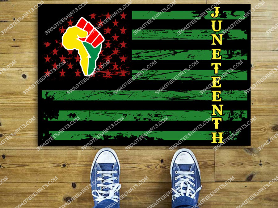 juneteenth african pride black freedom independent day full print doormat 2(1)