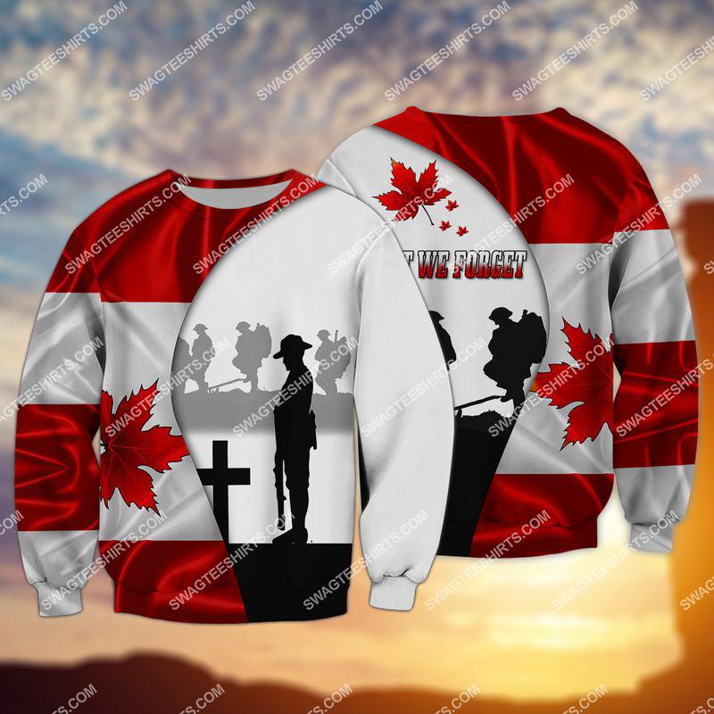 lest we forget canada veteran full print sweatshirt 1