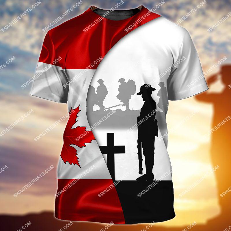 lest we forget canada veteran full print tshirt 1