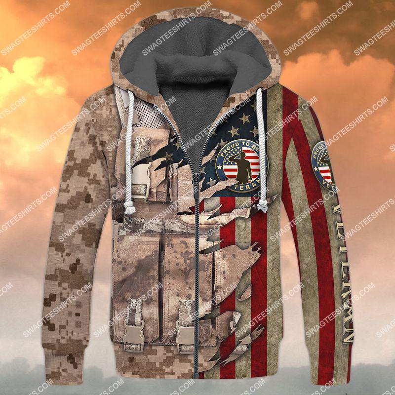 memorial day proud to be a veteran full print fleece hoodie 1