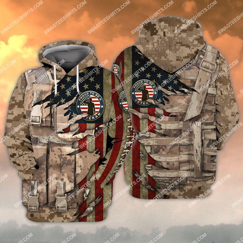 memorial day proud to be a veteran full print hoodie 1