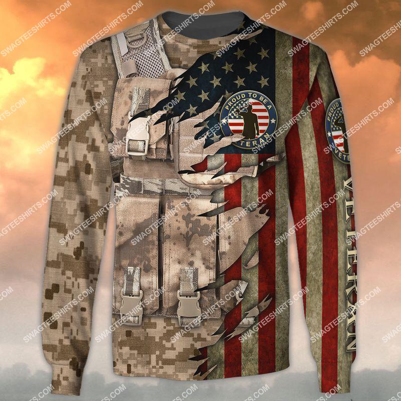 memorial day proud to be a veteran full print sweatshirt 1