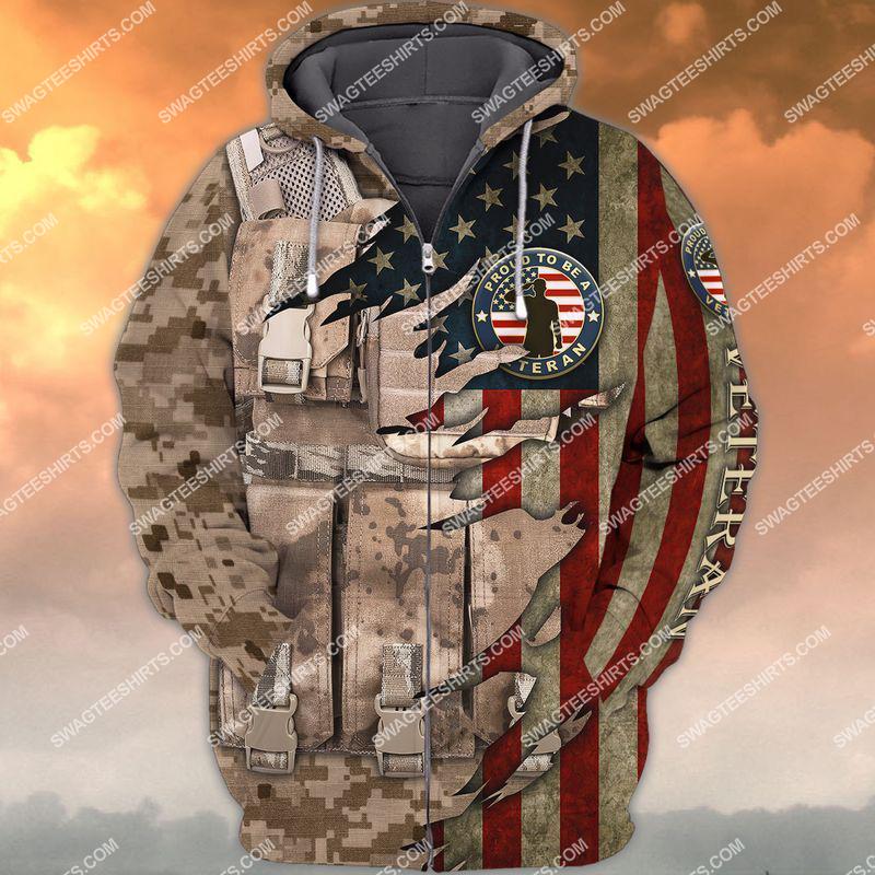 memorial day proud to be a veteran full print zip hoodie 1