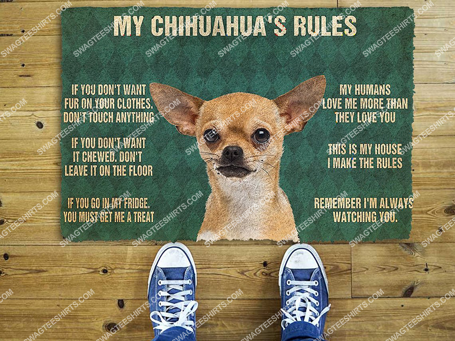 my chihuahua rules welcome full print doormat 2(2) - Copy