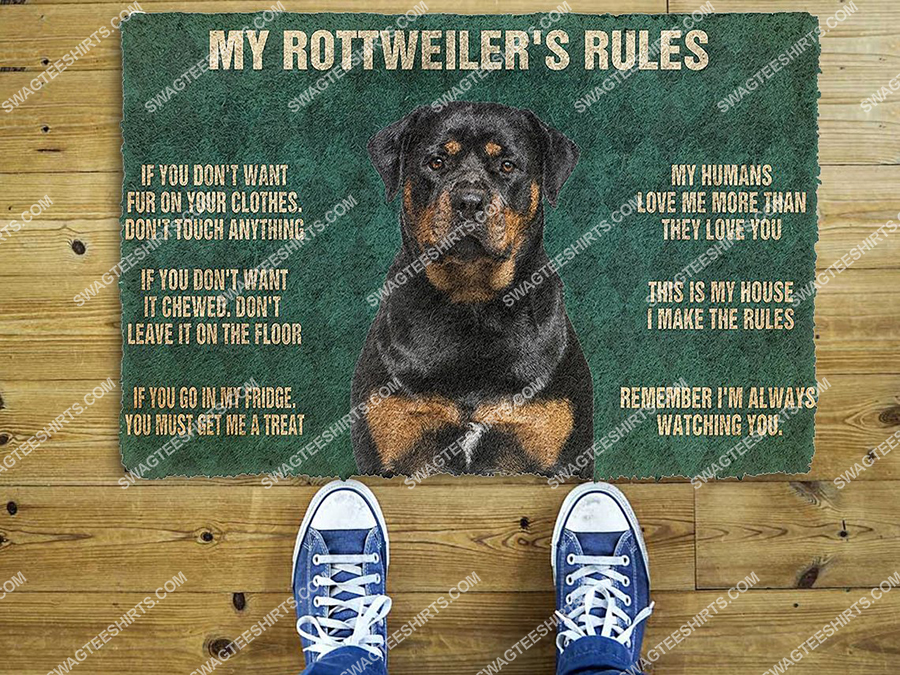 my rottweiler rules welcome full print doormat 2(1) - Copy