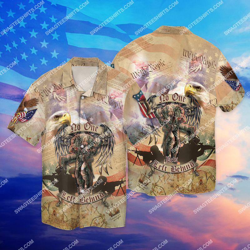 no veteran left behind veterans day full print hawaiian shirt 1