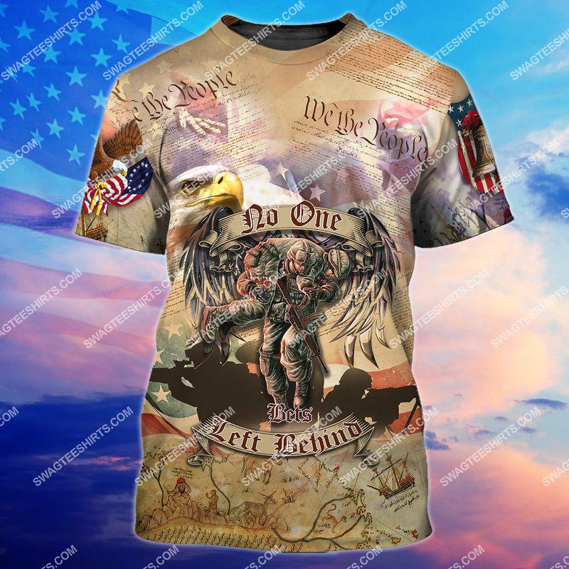 no veteran left behind veterans day full print tshirt 1