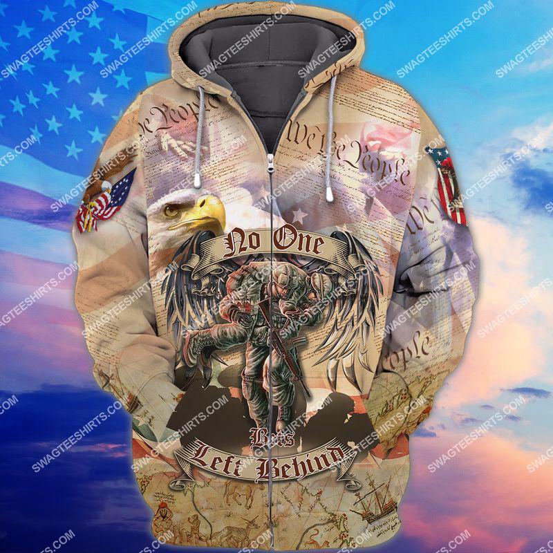 no veteran left behind veterans day full print zip hoodie 1