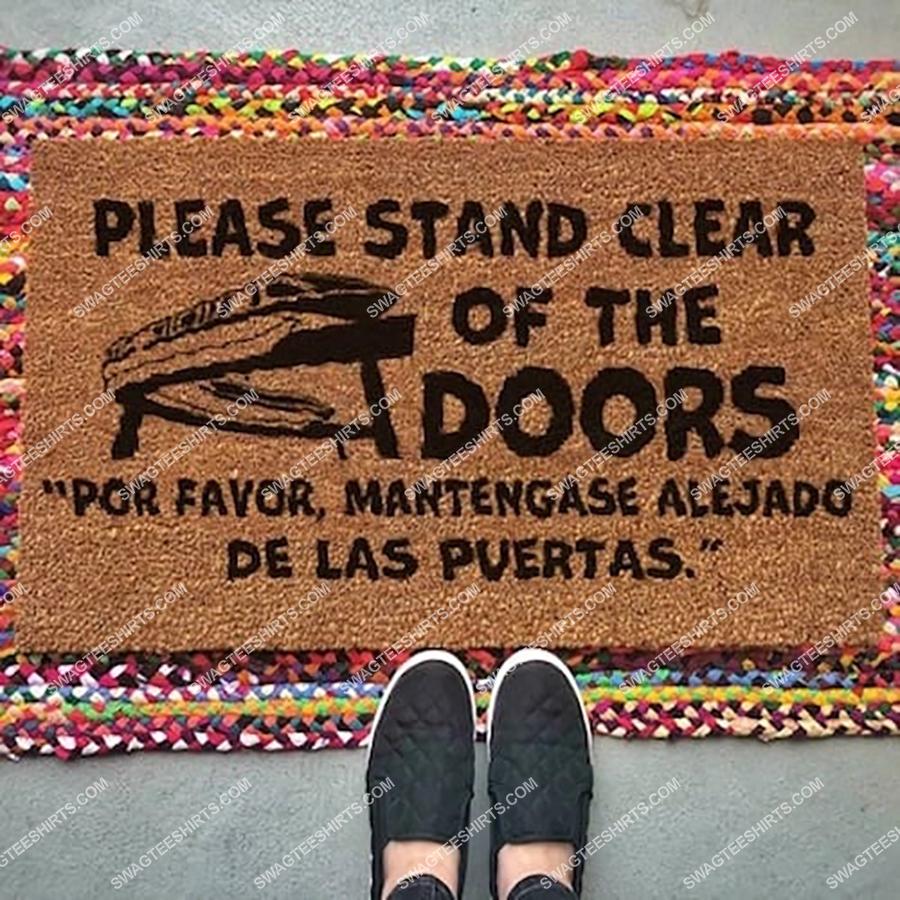 please stand clear of the door full print doormat 2(3) - Copy
