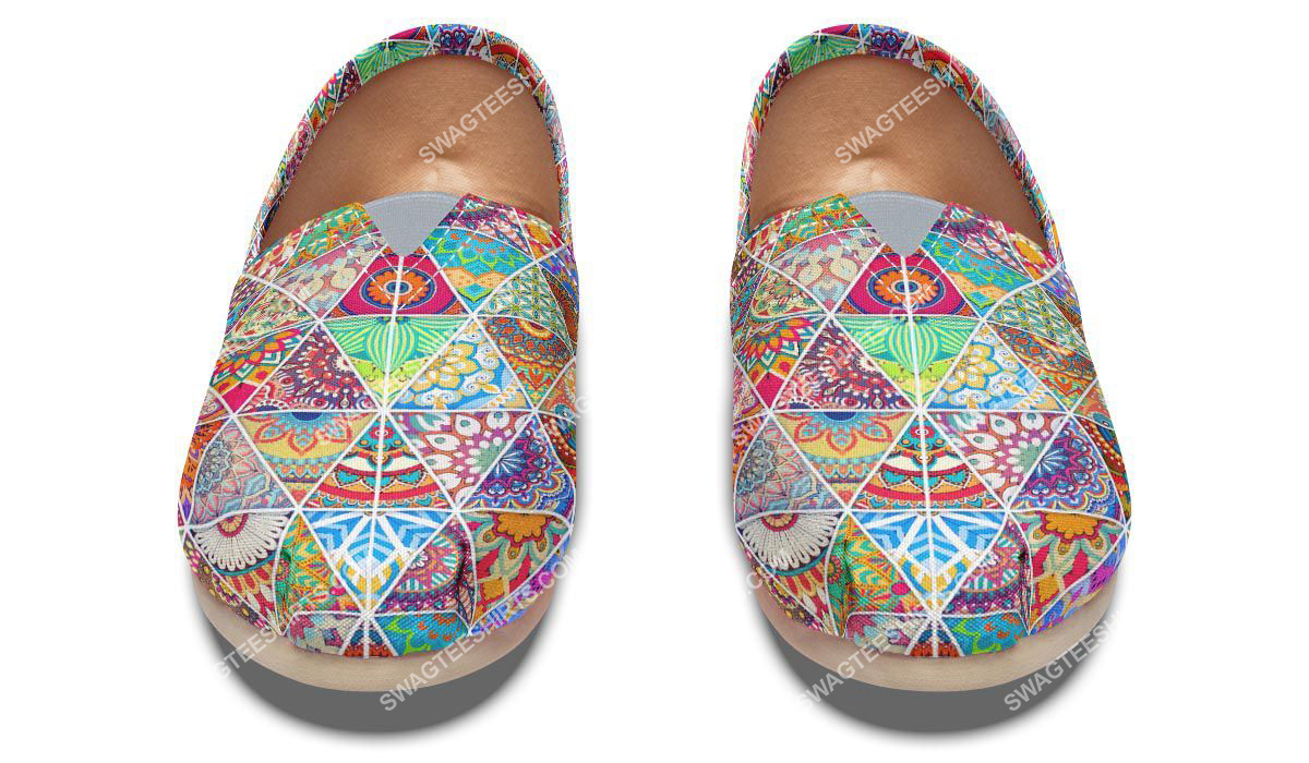 retro bohemian pattern all over printed toms shoes 2(1)