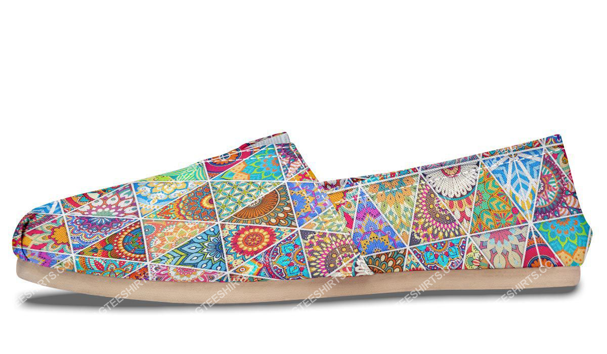 retro bohemian pattern all over printed toms shoes 5(1)