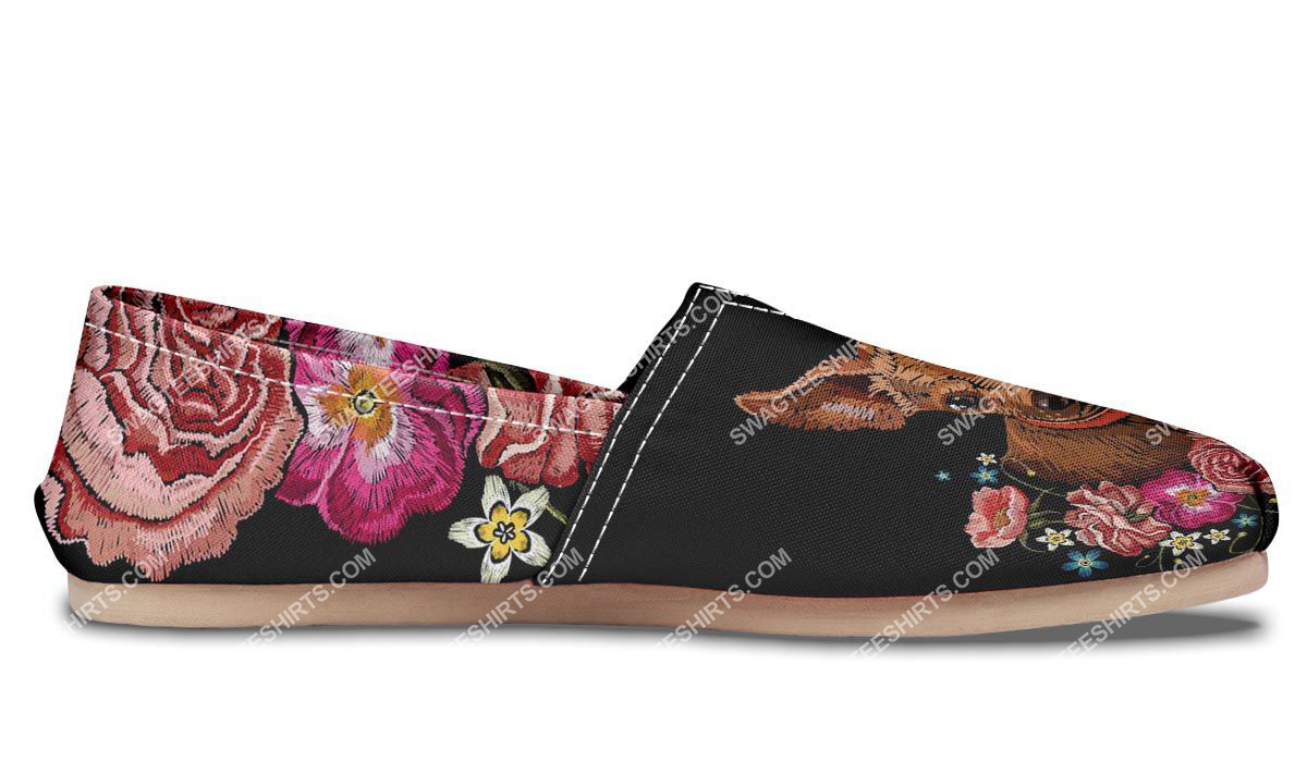 retro embroidery chihuahua dogs lover all over printed toms shoes 4(1)