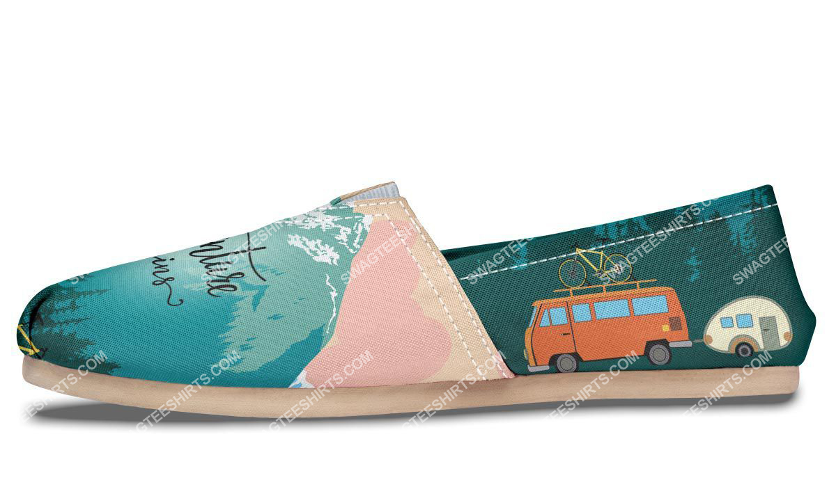 retro the adventure begins camping all over printed toms shoes 5(1)