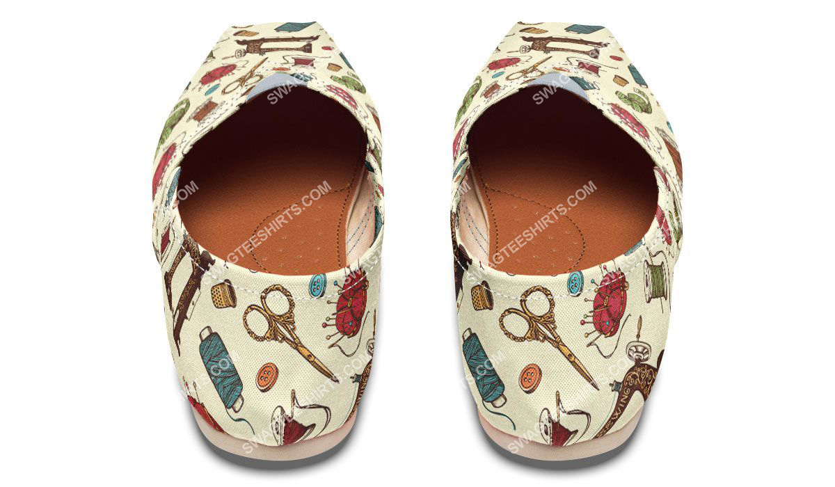 sewing machine floral all over printed toms shoes 3(1)