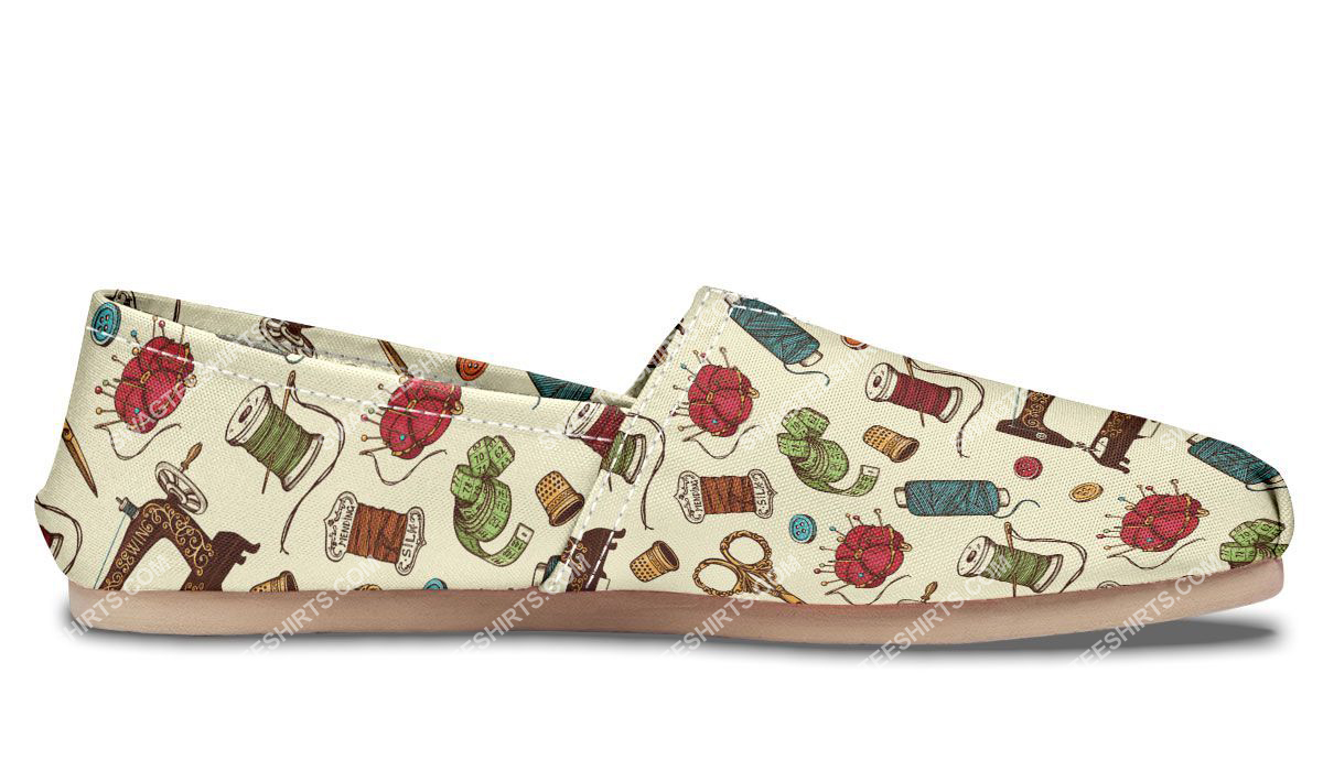 sewing machine floral all over printed toms shoes 4(1)