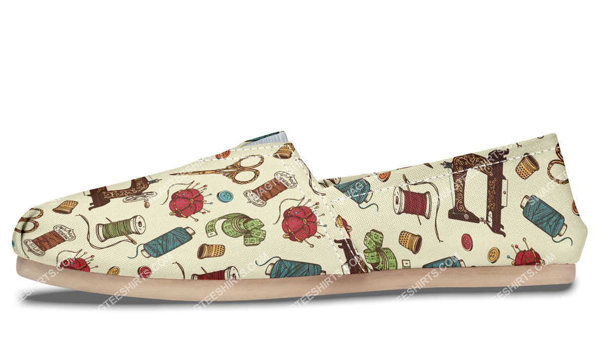 sewing machine floral all over printed toms shoes 5(1)