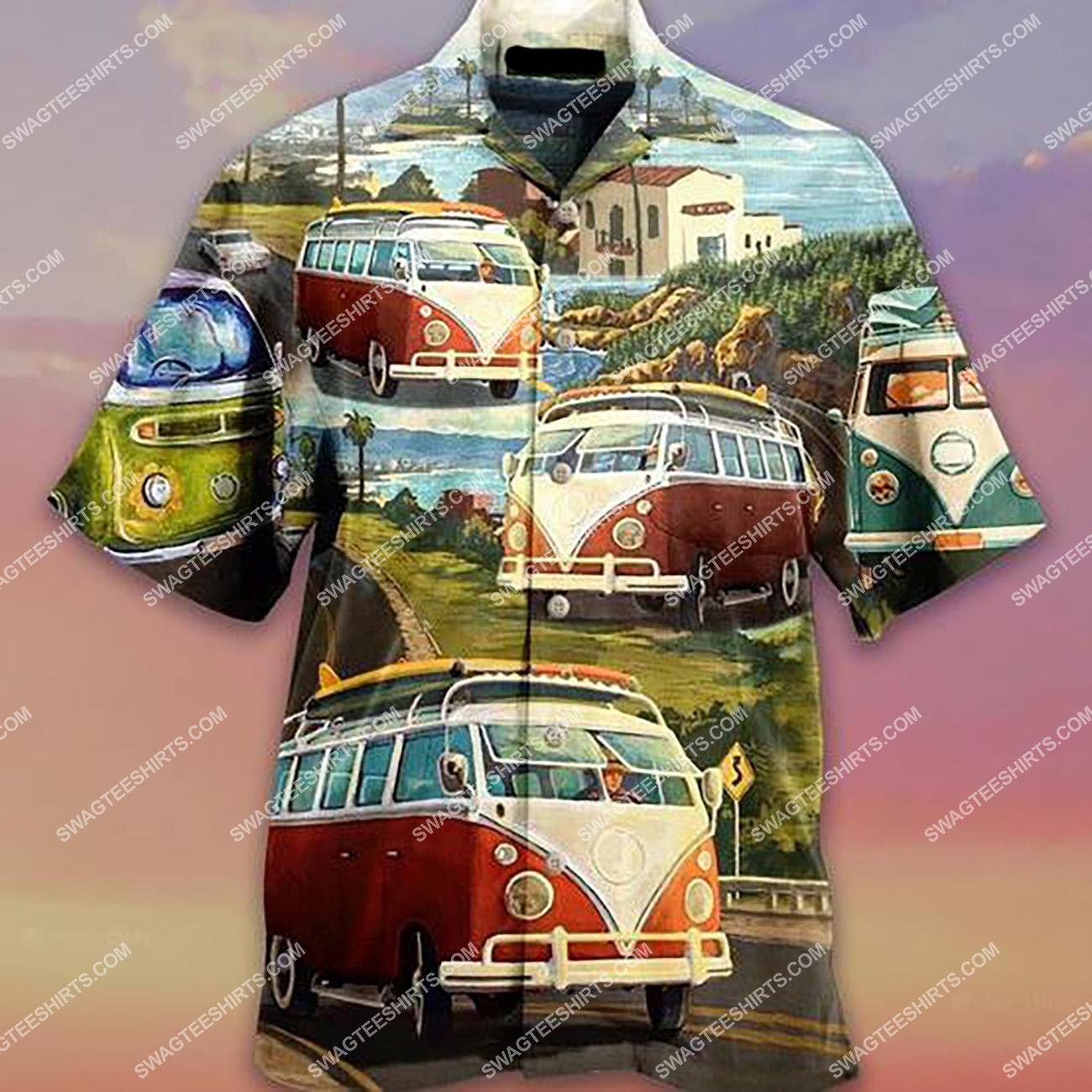 summer time car camping lover all over printed hawaiian shirt 1(1)