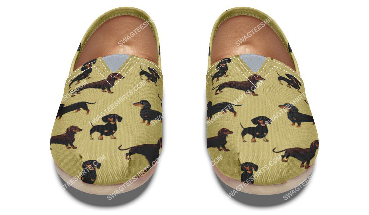 the dachshund dog lovers all over printed toms shoes 2(1)
